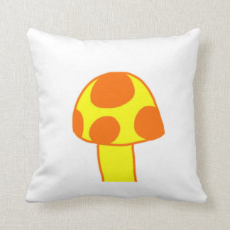 the Spotted Mushroom Throw Pillow