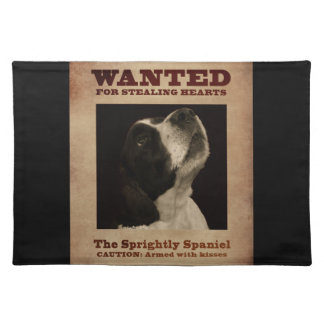 The Sprightly Springer Spaniel Cloth Placemat