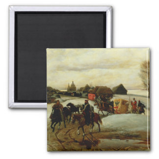 The Spring Pilgrimage of the Tsarina Refrigerator Magnet