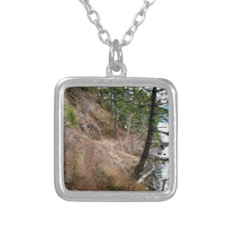 The Spruce Railroad Trail Olympic National Park Square Pendant Necklace