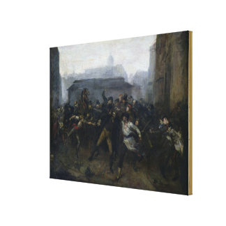 The Spy, Episode of the Siege of Paris, 1871 Canvas Print