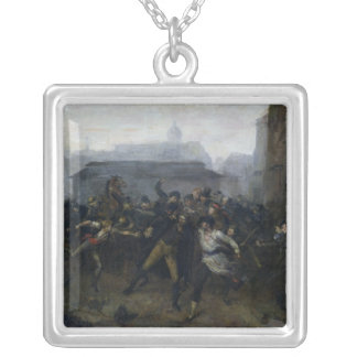 The Spy, Episode of the Siege of Paris, 1871 Silver Plated Necklace