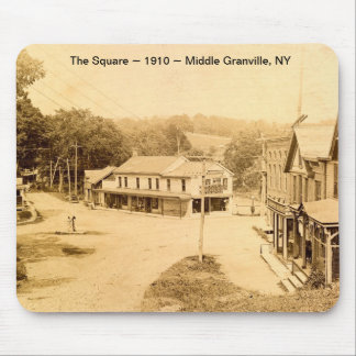 The Square 1910 Middle Granville NY Mouse Pad