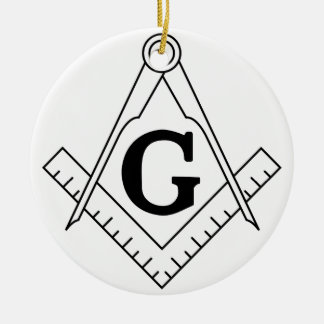 The Square and Compasses Freemasonry Symbol Ceramic Ornament