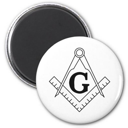 The Square and Compasses Freemasonry Symbol Magnet
