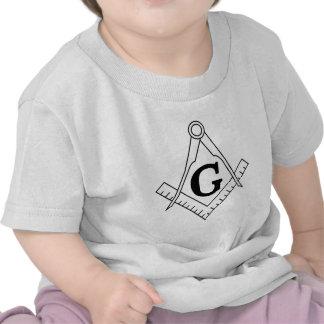 The Square and Compasses Freemasonry Symbol T-shirts