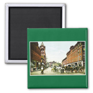 The Square, Bellows Falls, VT 2 Inch Square Magnet