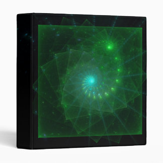 """The Square Green Worm"" Fractal Art Binder"