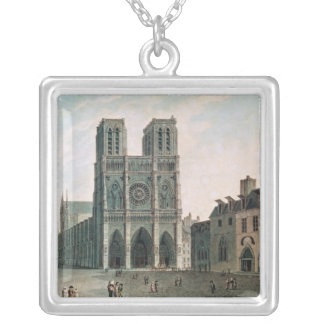 The Square in Front of Notre-Dame Silver Plated Necklace