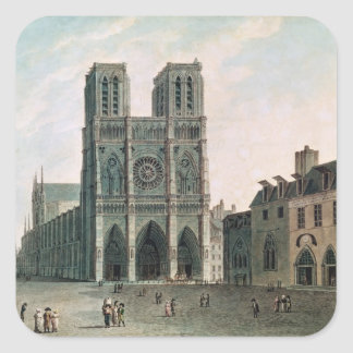 The Square in Front of Notre-Dame Square Sticker