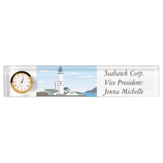 The Square Lighthouse - Desk Name Plate