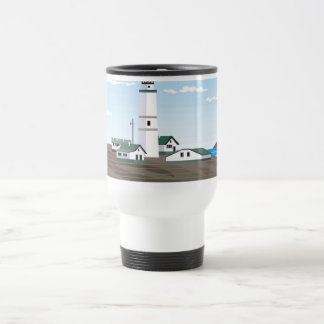 The Square Lighthouse - 15 Oz Stainless Steel Travel Mug