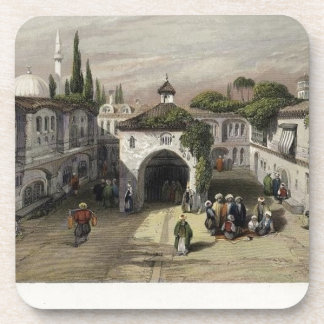 The Square of the Fountain, Adrianople Beverage Coaster