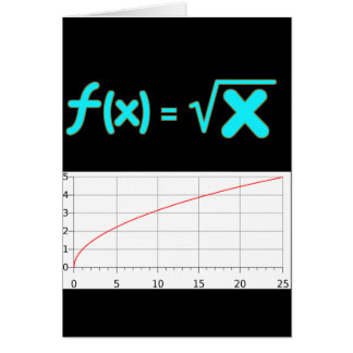 The Square Root Function f(x) = SQRT x Greeting Cards