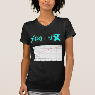 The Square Root Function f(x) = SQRT x Tee Shirt