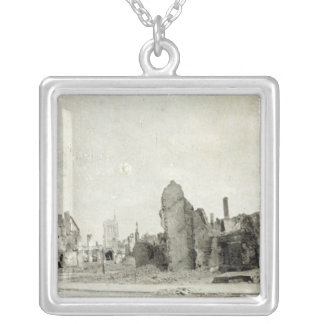 The Square, Ypres, June 1915 Silver Plated Necklace