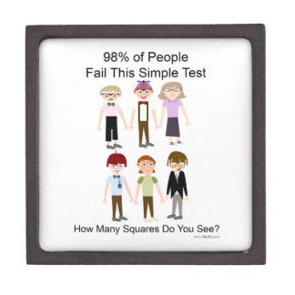 The Squares Test Premium Trinket Box