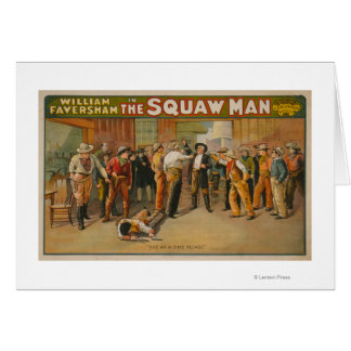 The Squaw Man Western Drama Theatre Poster Card