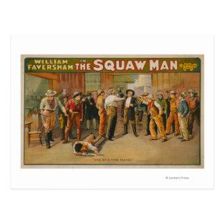 The Squaw Man Western Drama Theatre Poster Postcard