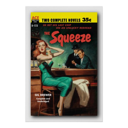 The Squeeze - Gil Brewer pb Cover Poster 1955