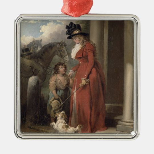 The Squire's Door, c.1790 (oil on canvas) Metal Ornament