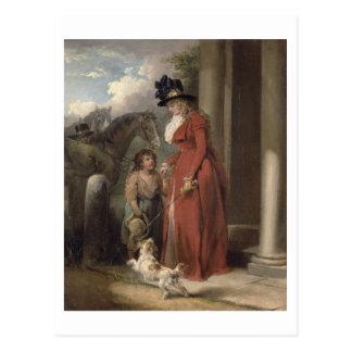 The Squire's Door, c.1790 (oil on canvas) Postcard