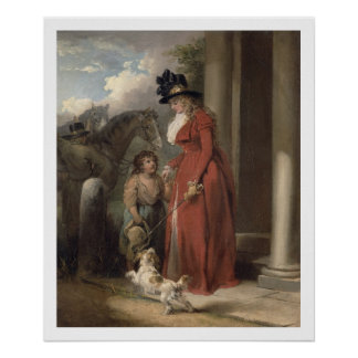 The Squire's Door, c.1790 (oil on canvas) Print