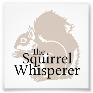 The Squirrel Whisperer Photographic Print