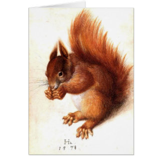 THE SQUIRREL WITH NUTS CARD