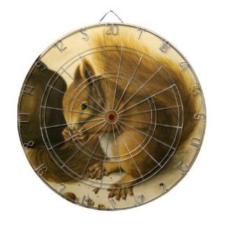THE SQUIRREL WITH NUTS DARTBOARD WITH DARTS