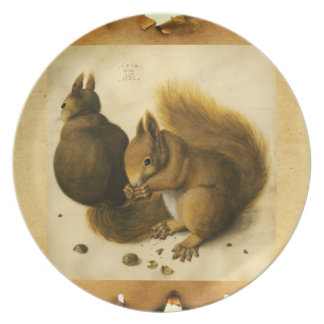 THE SQUIRREL WITH NUTS DINNER PLATE