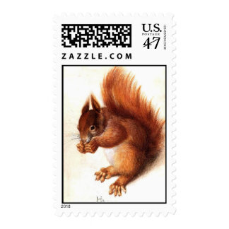 THE SQUIRREL WITH NUTS POSTAGE STAMP