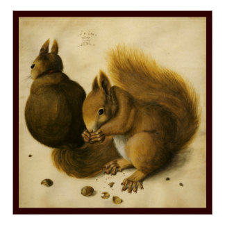 THE SQUIRREL WITH NUTS POSTER