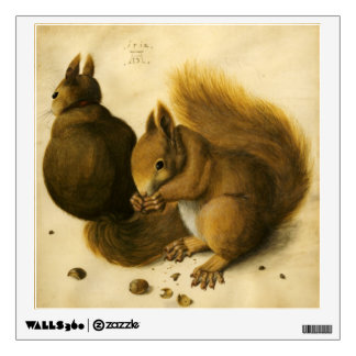 THE SQUIRREL WITH NUTS WALL DECAL