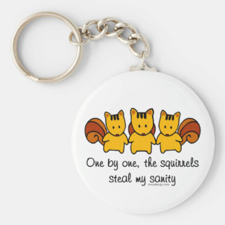 The squirrels steal my sanity keychain