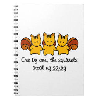 The squirrels steal my sanity notebooks