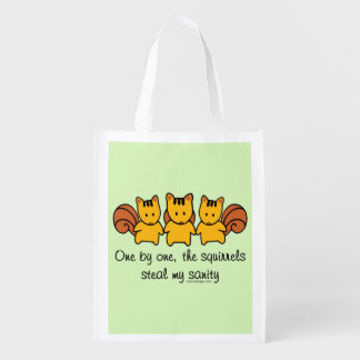 The squirrels steal my sanity reusable grocery bag