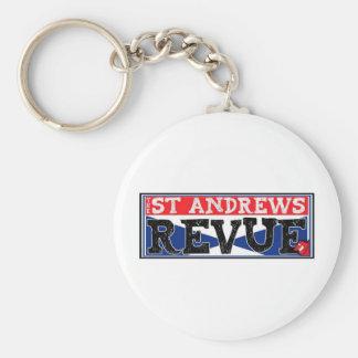 The St Andrews Revue Luxury Line Basic Round Button Keychain