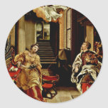 The St. Cecilia And St. Valerian By Orsi Lelio (Be Classic Round Sticker