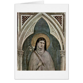 The St. Clare Of Assisi By Giotto Di Bondone Card