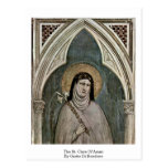 The St. Clare Of Assisi By Giotto Di Bondone Postcards