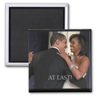The !st Couple , The 1st dance, AT LAST! 2 Inch Square Magnet
