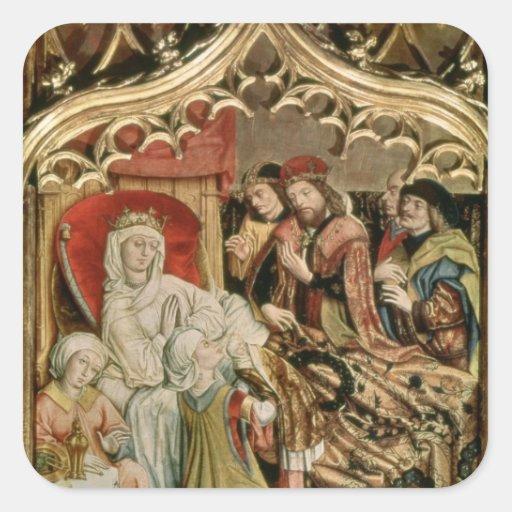 The St. Elizabeth Altarpiece Square Stickers