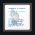 "The St Francis Prayer Keepsake Box<br><div class=""desc"">The St Francis Prayer,  sometimes called the Prayer of Peace,  is perhaps the best-loved prayer in the Catholic Church. Its popularity may have been further enhanced with the election of Pope Francis.</div>"