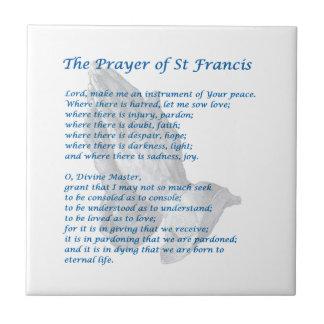 The St Francis Prayer Tile