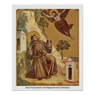 The St. Francis Receives The Stigmata Poster