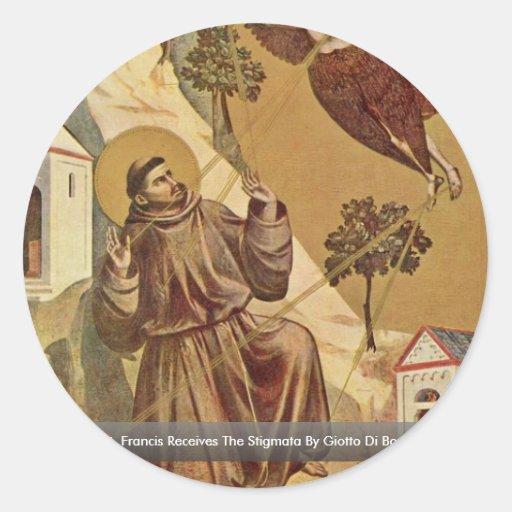 The St. Francis Receives The Stigmata Sticker