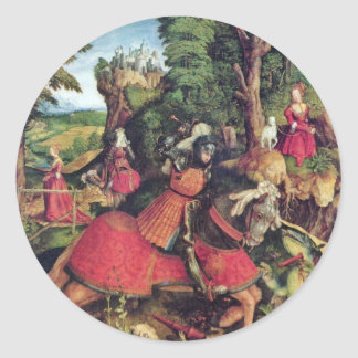The St. George Fighting The Dragon By Beck Leonhar Classic Round Sticker
