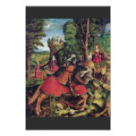 The St. George Fighting The Dragon By Beck Leonhar Print