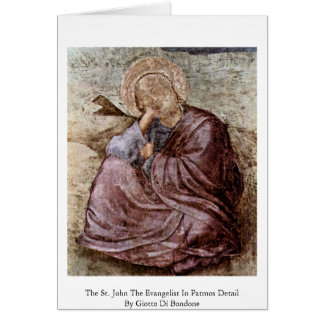 The St. John The Evangelist In Patmos Detail Greeting Card
